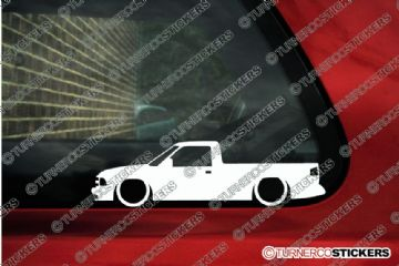 2x LOW Chevrolet S-10 single / standard cab Pickup (1994-1997) Lowered outline stickers